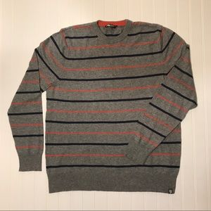 The North Face grey striped men's sweater